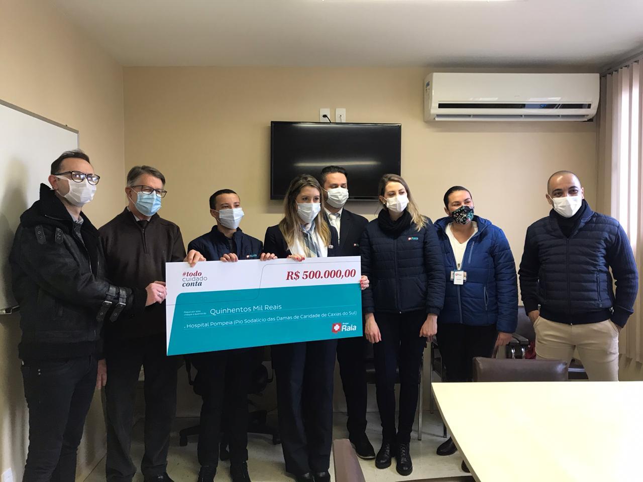 Hospital Pompéia recebe doação de R$ 500 mil para combater a covid-19
